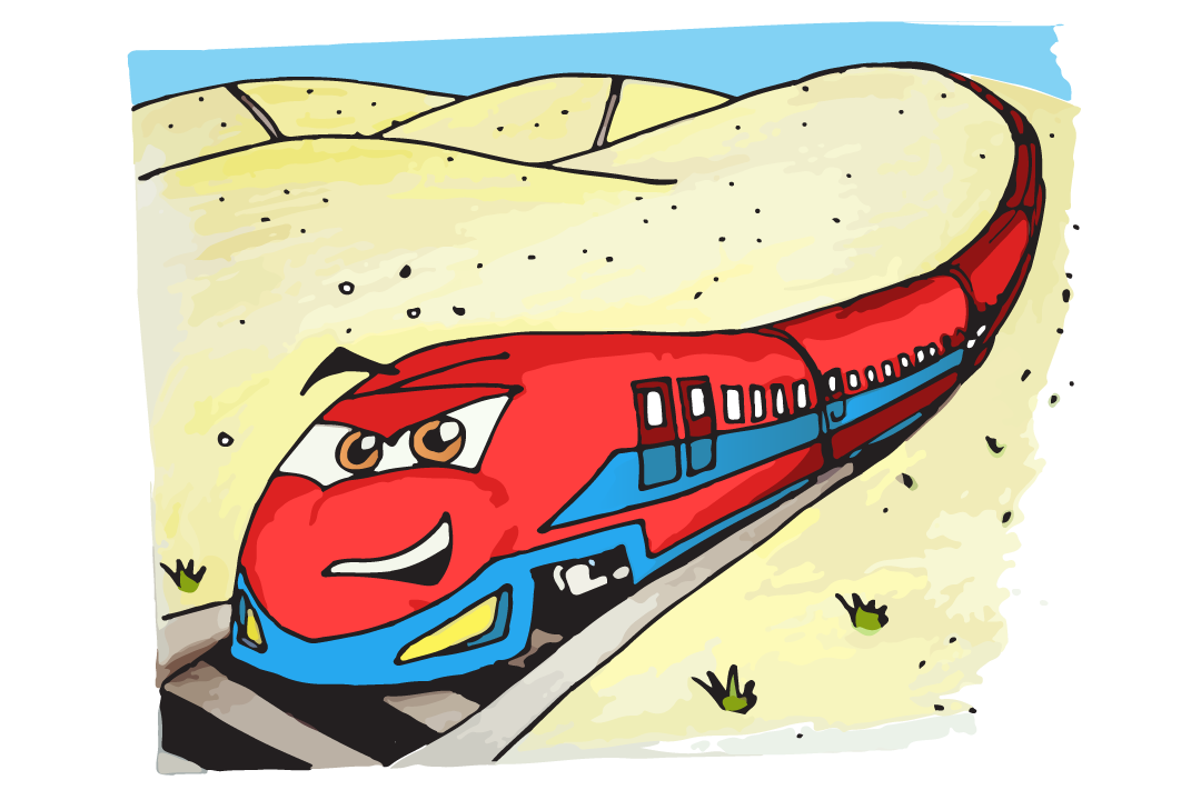 How to Draw a Bullet Train Drawing Tutorial