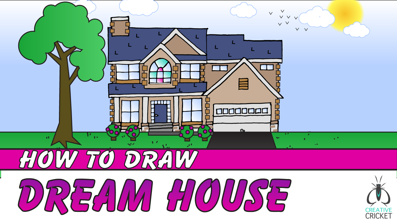 Creative cricket educational art lessons for kids and for My dream house drawing