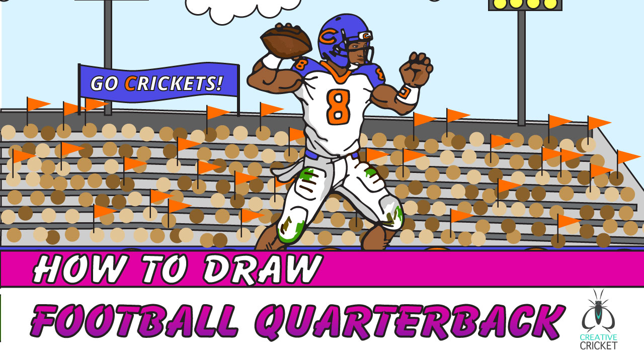 How to Draw a Football Player Quarterback Drawing Tutorial