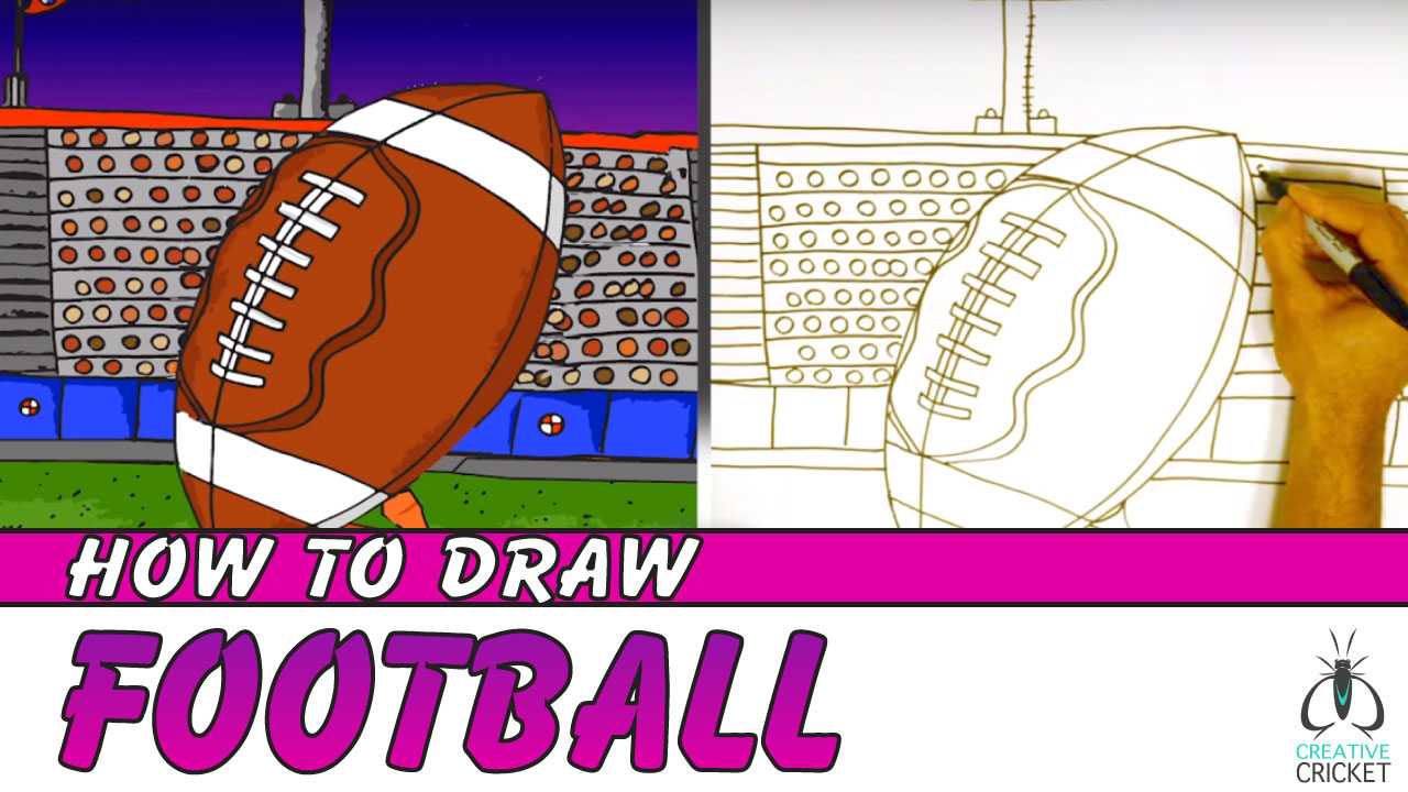 How to Draw a Football Kickoff Drawing Tutorial