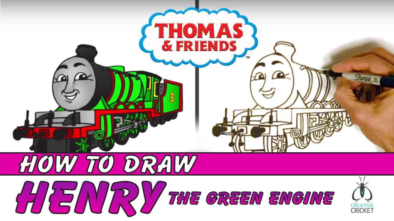How to Draw Henry from Thomas and Friends Drawing Tutorial