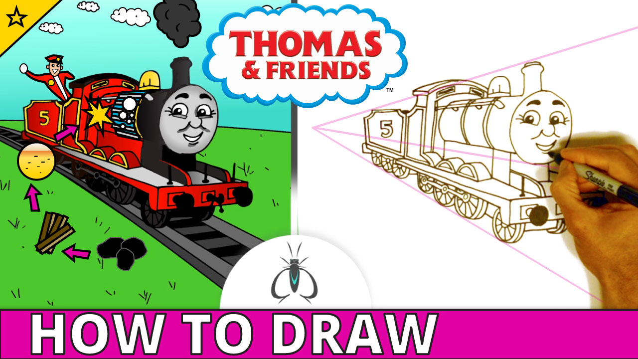 Jump to How to Draw James the Red Engine