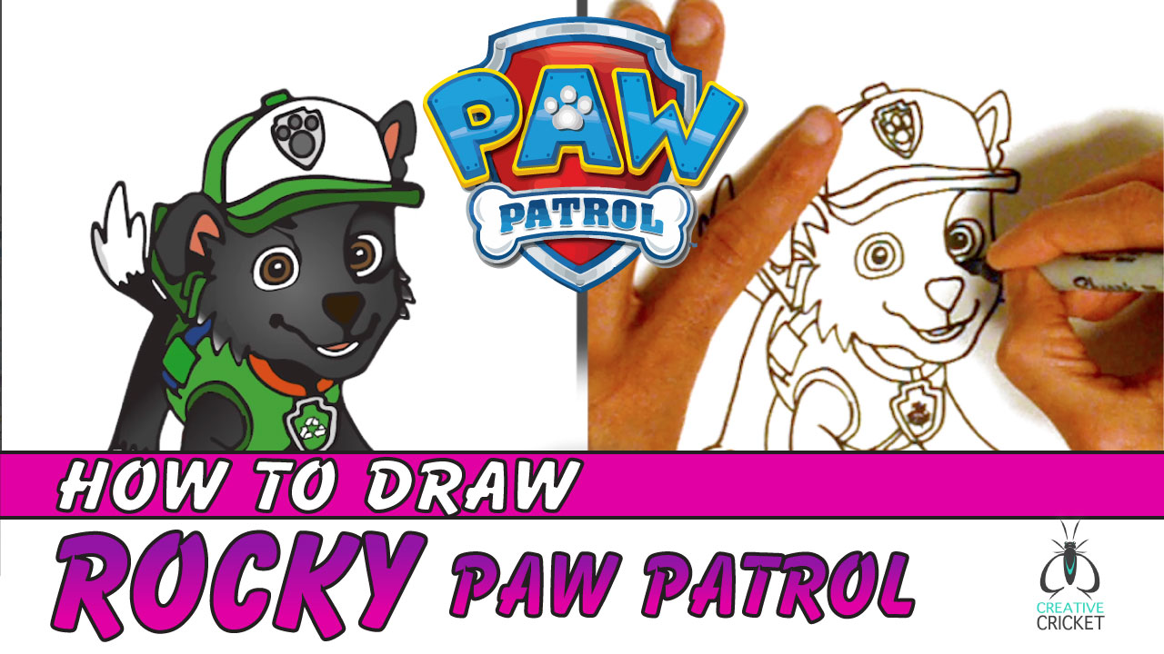 How to Draw Rocky from Paw Patrol Drawing Tutorial