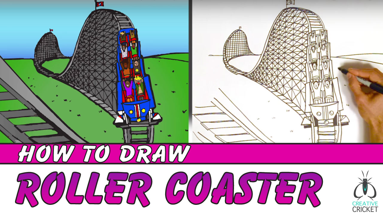 How to Draw a Roller Coaster Drawing Tutorial