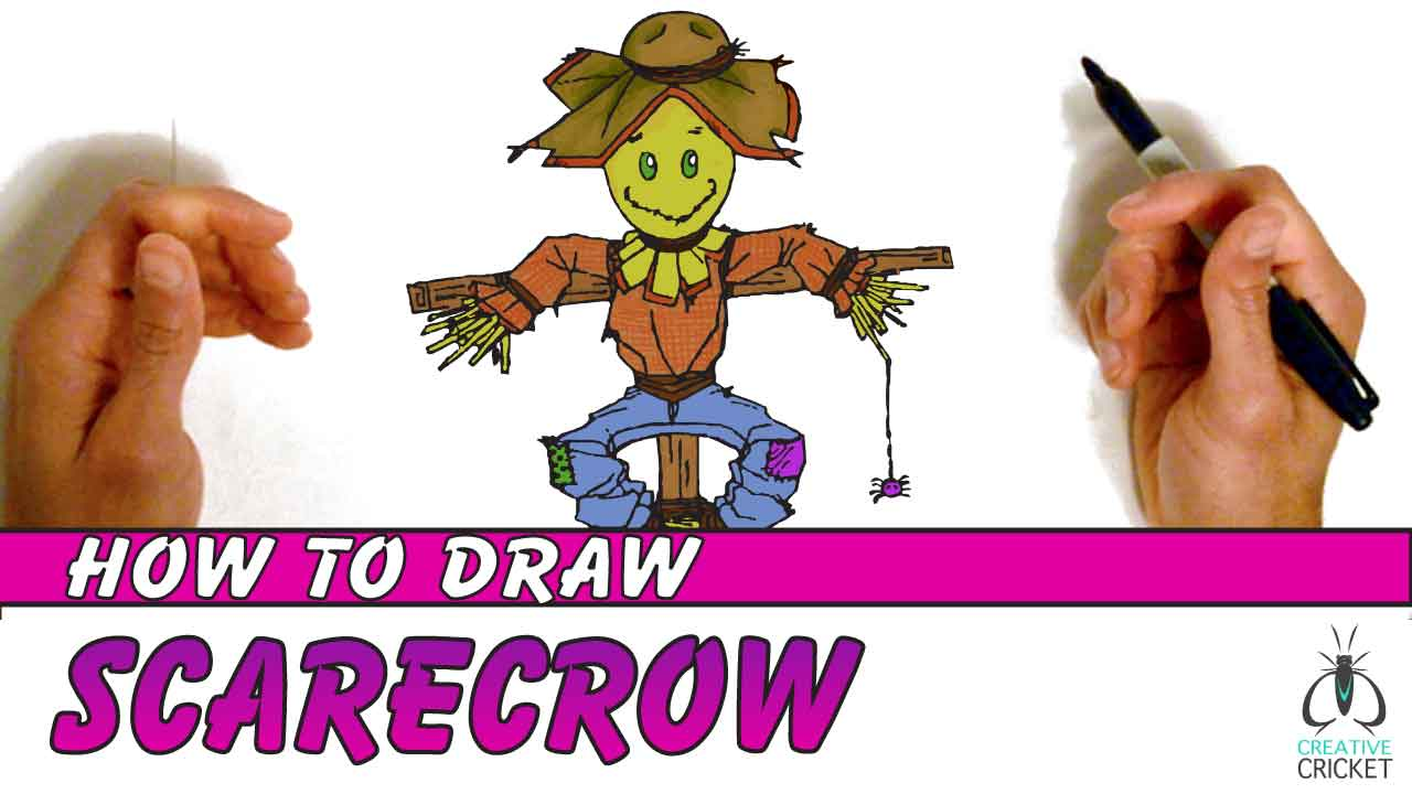 How To Draw a Scarecrow Drawing Turorial