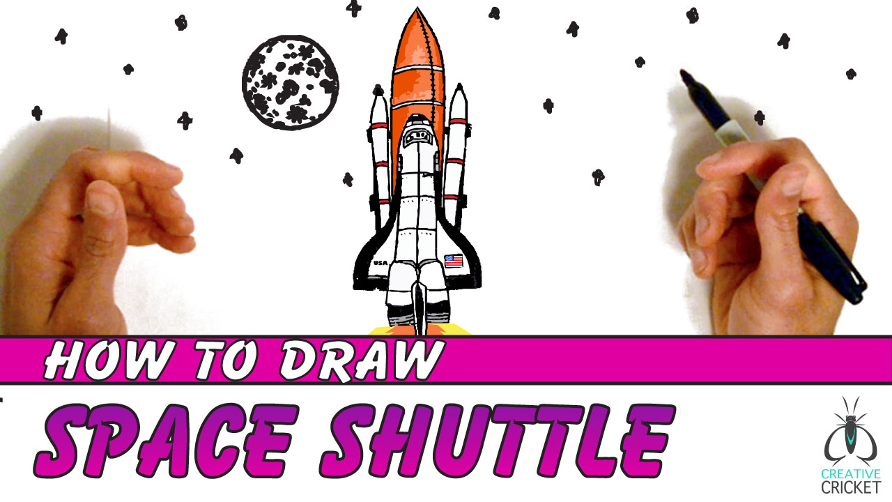 How to Draw a Space Shuttle Launch Drawing Tutorial