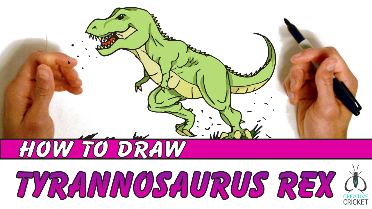 How to Draw a T-Rex Dinosaur Tyrannosaurus Rex Drawing Tutorial